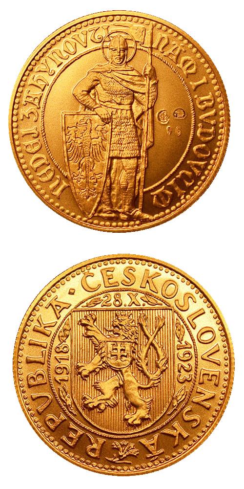 1923_navrh_dukatu_Cejka_unc_mince