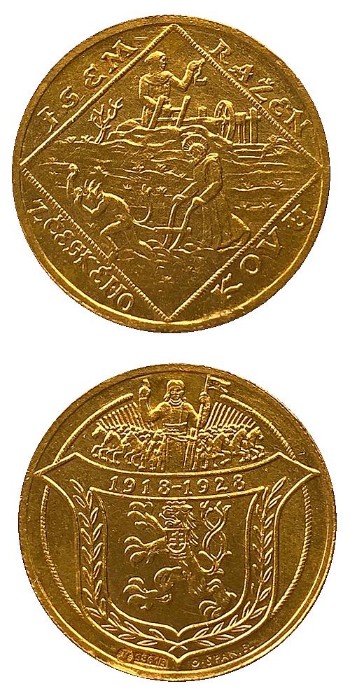 1928_2_dukat_Jsem_razen_z_ceskeho_kovu_Au_bk_medaile
