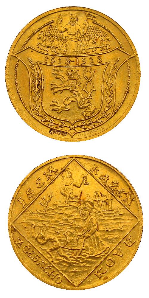 1928_4_dukat_medaile_Jsem_razen_z_ceskeho_kovu_Au_detaily