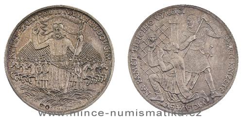 1929 - 1000. výročí zavraždění sv. Václava - stříbrná medaile