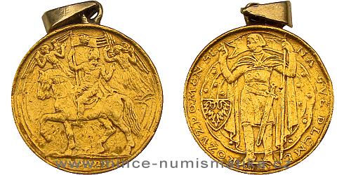 Zlatá 1 dukátová medaile Milénium Sv. Václava 929 - 1929