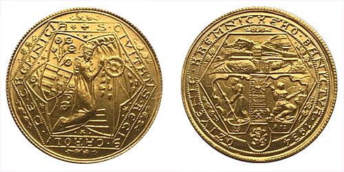 1934 - Dukátová medaile Oživení Kremnického baníctva R 1973