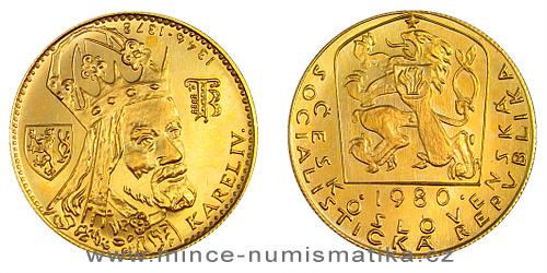 1 dukát Karel IV. 1978-1982