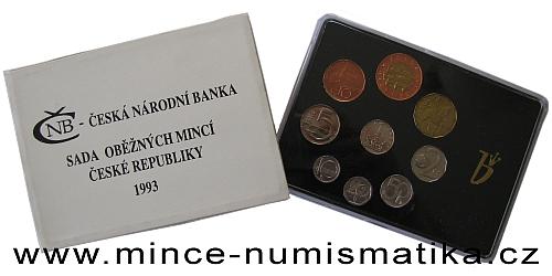Sada oběžných mincí ČR 1993 - HM, RCM, BJ
