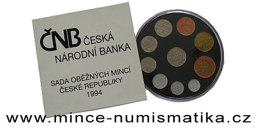 Sada oběžných mincí ČR 1994 - HM, BJ