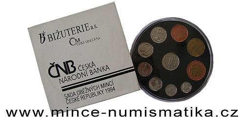 Sada oběžných mincí ČR 1994 - HM, RCM, BJ