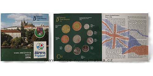 Sada oběžných mincí ČR 1996 - Fotbal EURO 1996