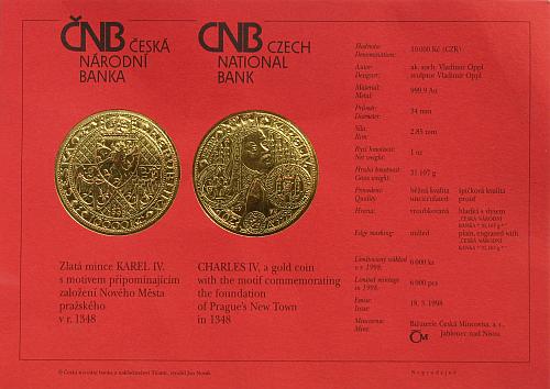 1998_10000_Kc_Karel_IV._Au_bk_certifikat