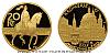 1998 - Zlatá medaile s motivem české měny 20 Kč (Mincovní město Kroměříž)