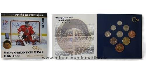 Sada oběžných mincí ČR 1998 - Nagano
