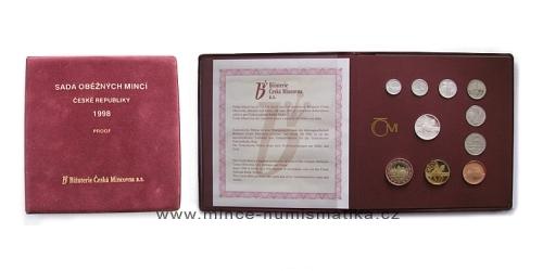 Sada oběžných mincí ČR 1998 - PROOF