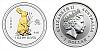1999 - 1 $ Australia - Year of the Rabbit (Rok Králíka) Lunar I. - 1 Oz Ag gilded