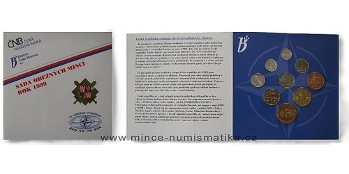 Sada oběžných mincí ČR 1999 - NATO