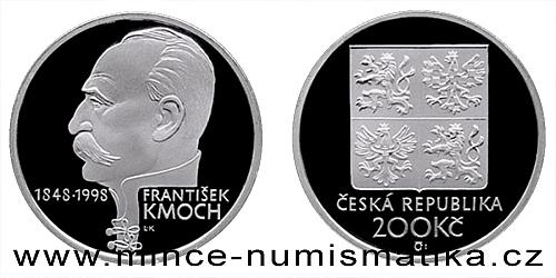 200 Kč - 150. výročí narození Františka Kmocha