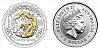 2000 - 1 $ Australia - Year of the Dragon (Rok Draka) Lunar I. - 1 Oz Ag gilded