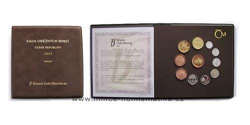 Sada oběžných mincí ČR 2000 - PROOF