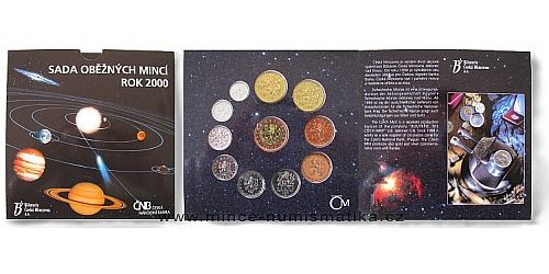 Sada oběžných mincí ČR 2000 - Standart (Vesmír)
