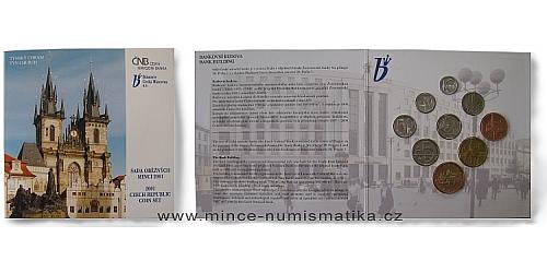Sada oběžných mincí ČR 2001 - Standart (Týnský chrám)