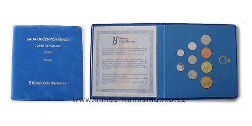 Sada oběžných mincí ČR 2002 - PROOF