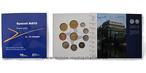 Sada oběžných mincí ČR 2002 - Summit NATO
