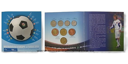 Sada oběžných mincí ČR 2004 - ME Fotbal