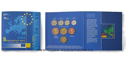 Sada oběžných mincí ČR 2004 - Vstup ČR do EU