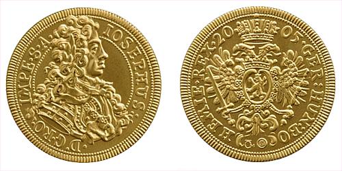 2005 - zlatá replika dukátu Josefa I.