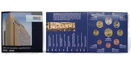Sada oběžných mincí - Česká spořitelna - 180. let českého spořitelnictví 1825 - 2005