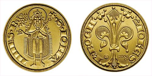 2006 - zlatá replika florénu Jana Lucemburského