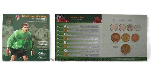 Sada oběžných mincí ČR 2006 - MS Fotbal