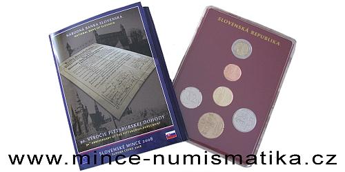 Sada oběžných mincí SR 2008 - Pittsburská dohoda
