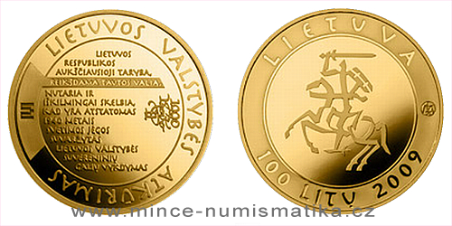 2009 - 100 Litas - The Millennium Anniversary of the Mention of the Name of Lithuania