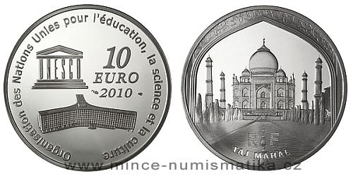 2010 - 10 euro - Taj Mahal (stříbro)