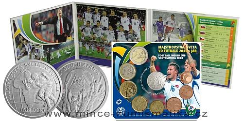 Sada oběžných mincí SR 2010 - Majstrovstvá sveta vo futbale JAR 2010
