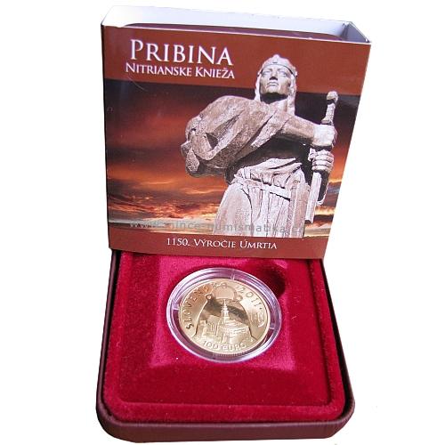 2011_100_euro_Pribina_Au_2