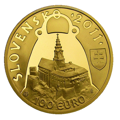 2011_100_euro_Pribina_Au_mince_avers