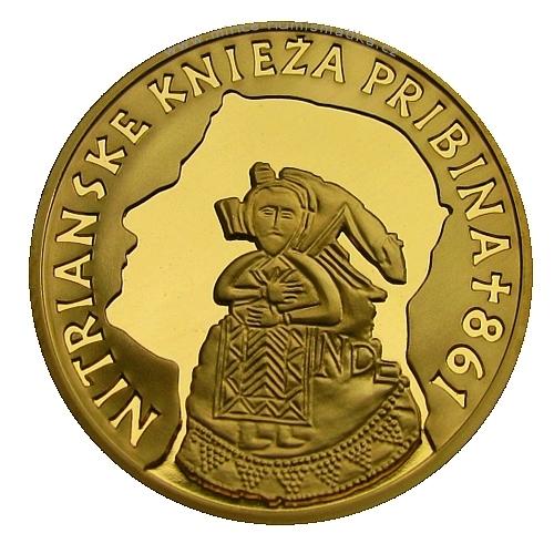 2011_100_euro_Pribina_Au_mince_revers