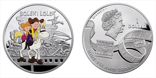 2011 - 1 $ Niue Island - Bolek a Lolek Ag