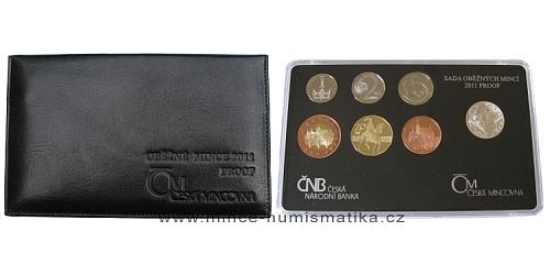Sada oběžných mincí ČR 2011 - PROOF (luxusní kožený obal)