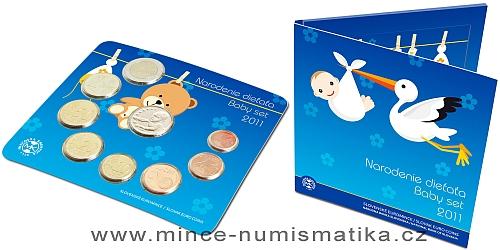 Sada oběžných mincí SR 2011 - Narození dítěte