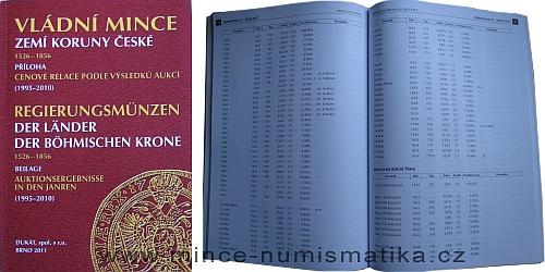 Vládní mince zemí koruny české - PŘÍLOHA cenové relace dle výsledků aukcí 1995 - 2010