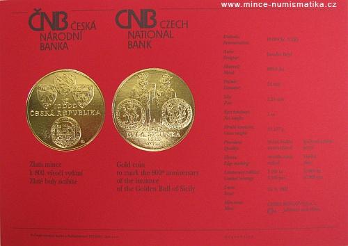 2012_10000Kc_Zlata_Bula_sicilska_certifikat