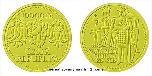 2012_10000Kc_Zlata_Bula_sicilska_nerealizovany_navrh_2