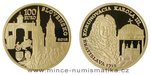 100 € - Bratislavské korunovace - 300. výročí korunovace Karla III.