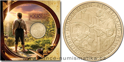 2012 - 1 $ Nový Zéland - The Hobbit ( Hobit ) v blistru (BU)