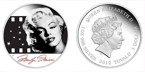 2012 - 1 $ Tuvalu - Marilyn Monroe ™