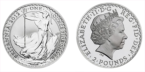 2012 2 pounds Britannia 1 Oz - Ag