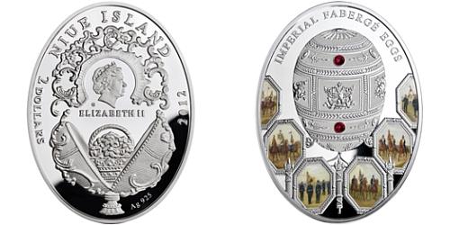 2012 - 2 $ - Imperial Fabergé Eggs - vejce Napoleonic Ag