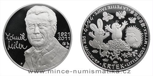 Stříbrná medaile KRTEČEK (Zdeněk Miler)