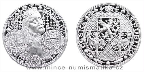Stříbrná medaile Nové Město pražské (nejkrásnější medailon)